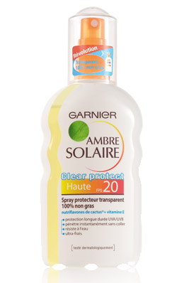 Garnier Ambre Solaire Clear Protect Spray Transparent SPF20